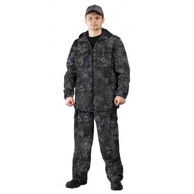 """Костюм """"ТУРИСТ 2"""" куртка/брюки цвет: кмф """"Питон черный"""